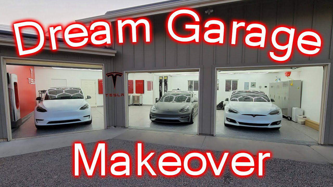 Tesla Garage Makeover! Finally Finished!