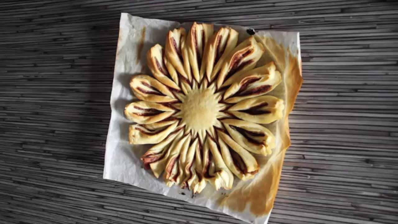 Souvent recette tarte au Nutella en pâte feuilletée - YouTube QZ78