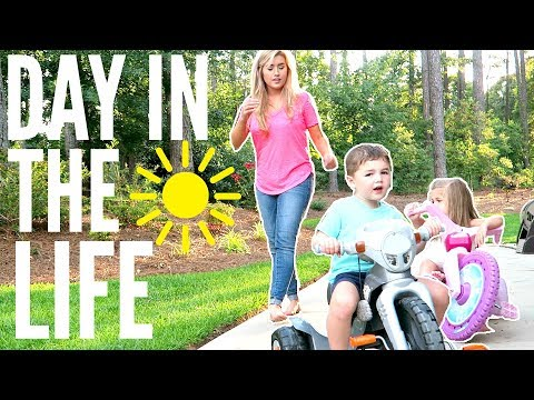 DAY IN THE LIFE MOM OF 2 | STAY AT HOME MOM | SUMMER 2018