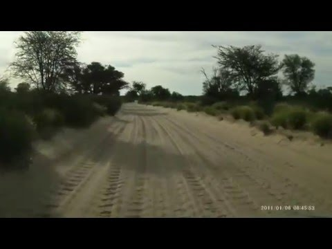 SA2015 Cape Town to Namibia Vids - Cubitje Quap drive from Nossob Camp