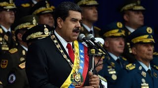 Venezuela arrests 6 for alleged attack on president