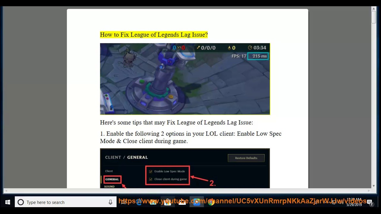 Fix League of Legends Lag Issue in Windows 10/8/7 (Complete & updated Guide)