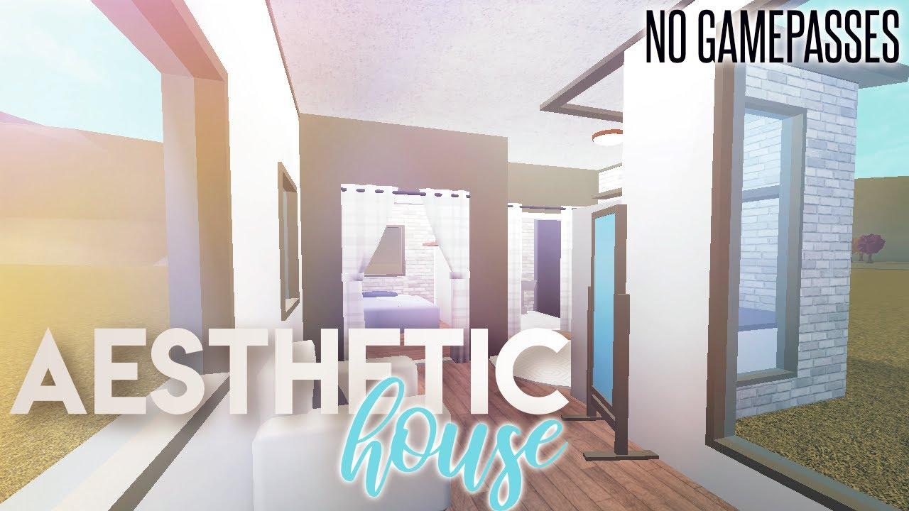 3k Aesthetic House Bloxburg House Build 3k No Gamepass Youtube