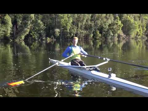 The most common balance problem in rowing