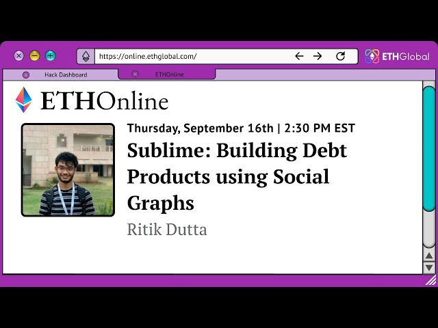 Sublime: Building Debt Products using Social Graphs