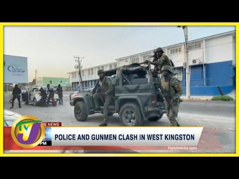 Police & Gunmen Clash in West Kingston Jamaica | TVJ News - July 20 2021
