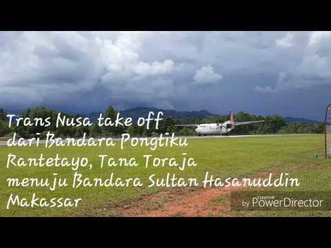 Trans Nusa take off dari Bandara Pongtiku Tana Toraja