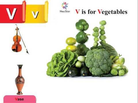 V is for Ve ables Now start with Letter V