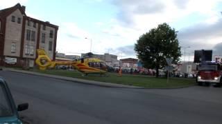 Start helikoptera przy ul. Łokietka Brzeg.