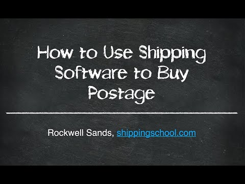 How to Use Shipping Software to Buy Postage