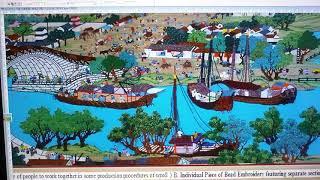 珠繍工藝畫清明上河图 英語解說  Bead Embroidery Scroll of Riverside Scene at Qingming Festival Brief Information