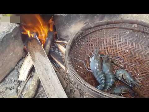 椰子自己摘蝦子自己抓料理自己來有夠原始的