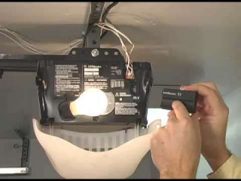 Garage Door Opener Code Reset Youtube