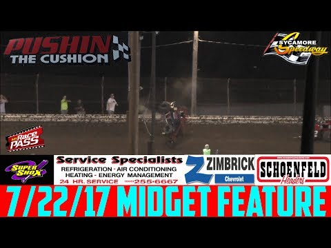 7/22/17 - Sycamore Speedway - Badger Midget - Feature