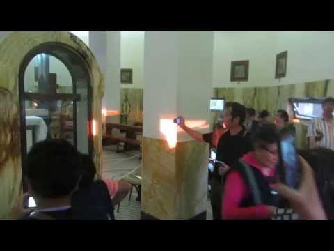 The Church of the Beatitudes near the Sea of Galilee Israel - the interior of the church