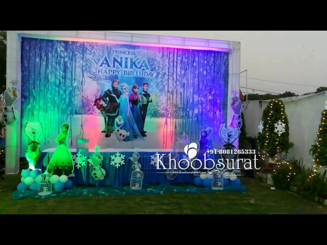 frozen theme party by khoobsurat event +91 8081265333
