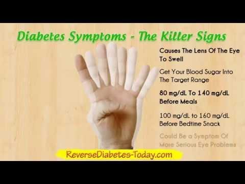 Diabetes Symptoms - Diabetes Type 2 and Diabetes Type 1
