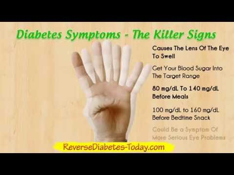 Diabetes Symptoms - Diabetes Type 2 and Diabetes Type 1
