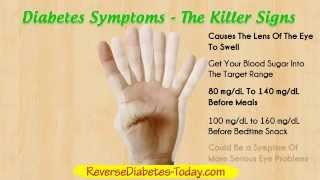 Diabetes Symptoms - Diabetes Type 2 and Diabetes Type 1(These major diabetes symptoms are the most common signs of diabetes type 2 and type 1. TYPE 2 DIABETES Links To Heart Disease & Cancer., 2014-02-25T18:47:32.000Z)