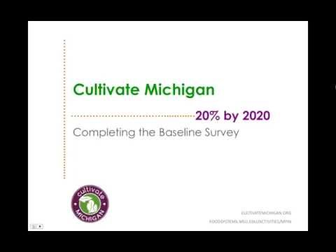 How To Complete Cultivate Michigan's Featured Foods Baseline Survey