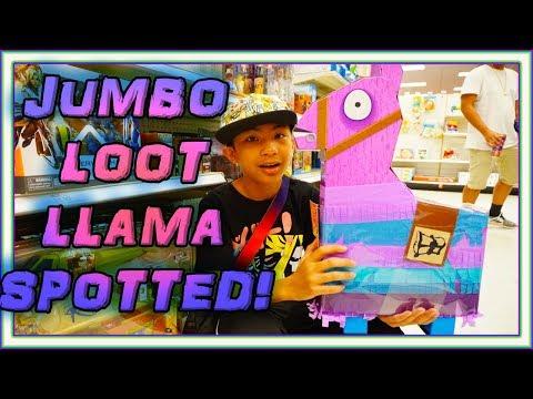 FORTNITE JUMBO LOOT LLAMA PINATA TARGET!! BRAND NEW ROBLOX TOYS | GAMER NINJA NEW TOYS