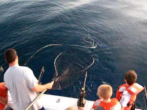 Kids Catch Really Big Fish On Lake Michigan While At Summer Camp