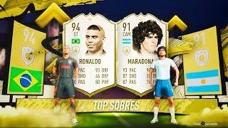 RONALDO NAZARIO Y MARADONA ICONO IN PACKS!! | TOP SOBRES #5 | FIFA 20