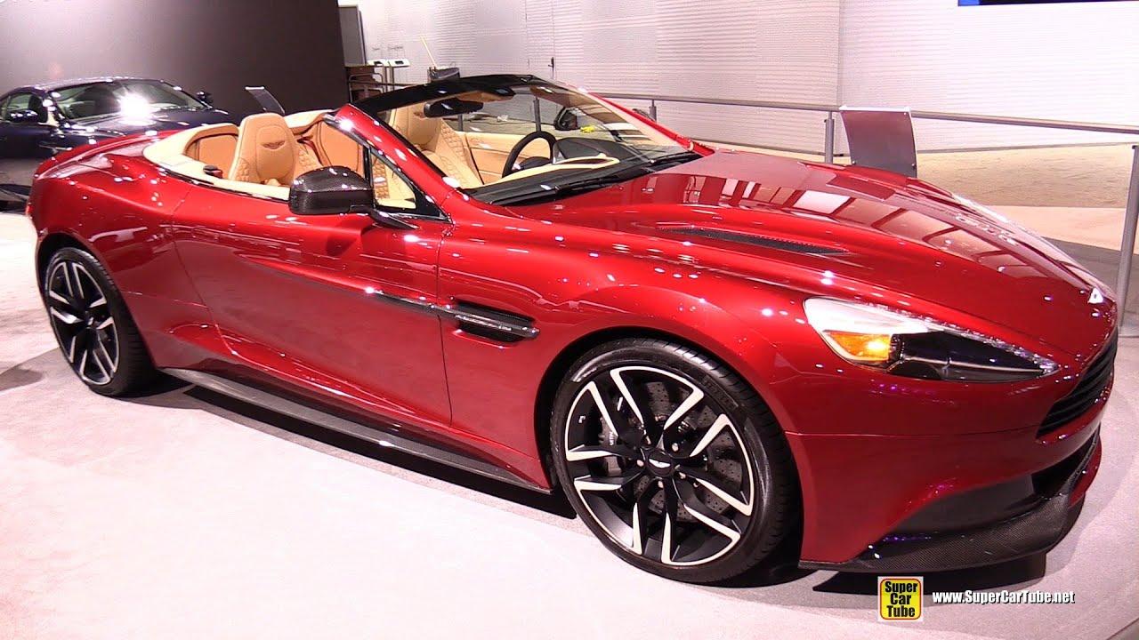 aston martin vanquish red interior. 2015 aston martin vanquish volante exterior and interior walkaround new york auto show youtube red n