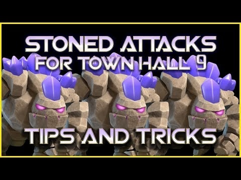 3 Golems Attacks for TH9 - Tips and Tricks - Clash of Clans