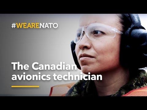 The Canadian avionics technician - #WeAreNATO