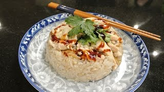 Making Sticky Rice With Sesame Chicken 麻油雞米糕 Taiwanese Traditional Food