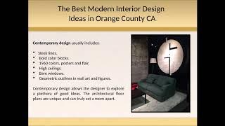 Modern interior design ideas in Orange County CA