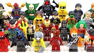 Ghost Rider Deadpool Doctor Strange Iron Man Thor Black Panther Unofficial LEGO Minifigures