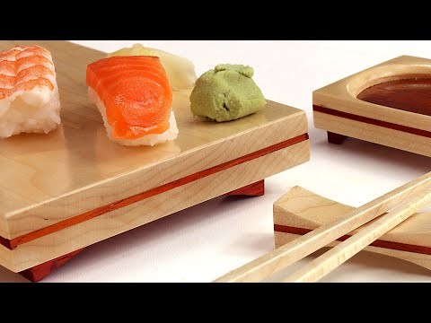SUSHI SERVING SET : Traditional WWMM woodworking kitchen mission