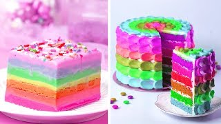 Delicious Rainbow Cake Decorating Ideas Awesome Diy Homemade Cake Recipe