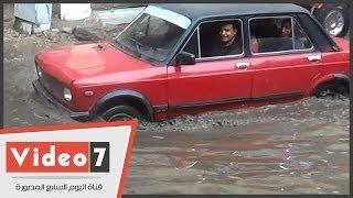 بالفيديو.. الأمطار تغرق «مصر» فى «شبر ميه»