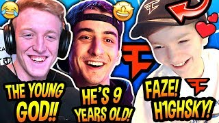 Tfue & Cloakzy React To The *NEW* YOUNGEST FAZE MEMBER EVER! (FaZe H1ghSky) Fortnite EPIC Moments
