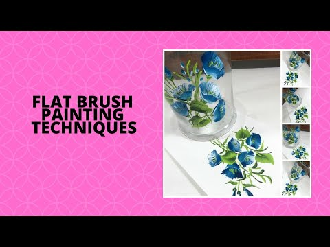 FLAT BRUSH PAINTING TECHNIQUES | Painting with Flat Brush | Tutorial | Aressa1 | 2020