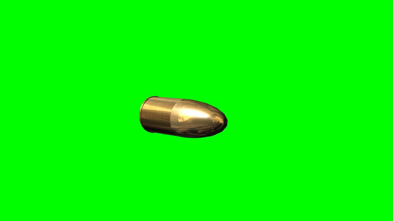 3d Objects Gold Bullet Free Green Screen Youtube