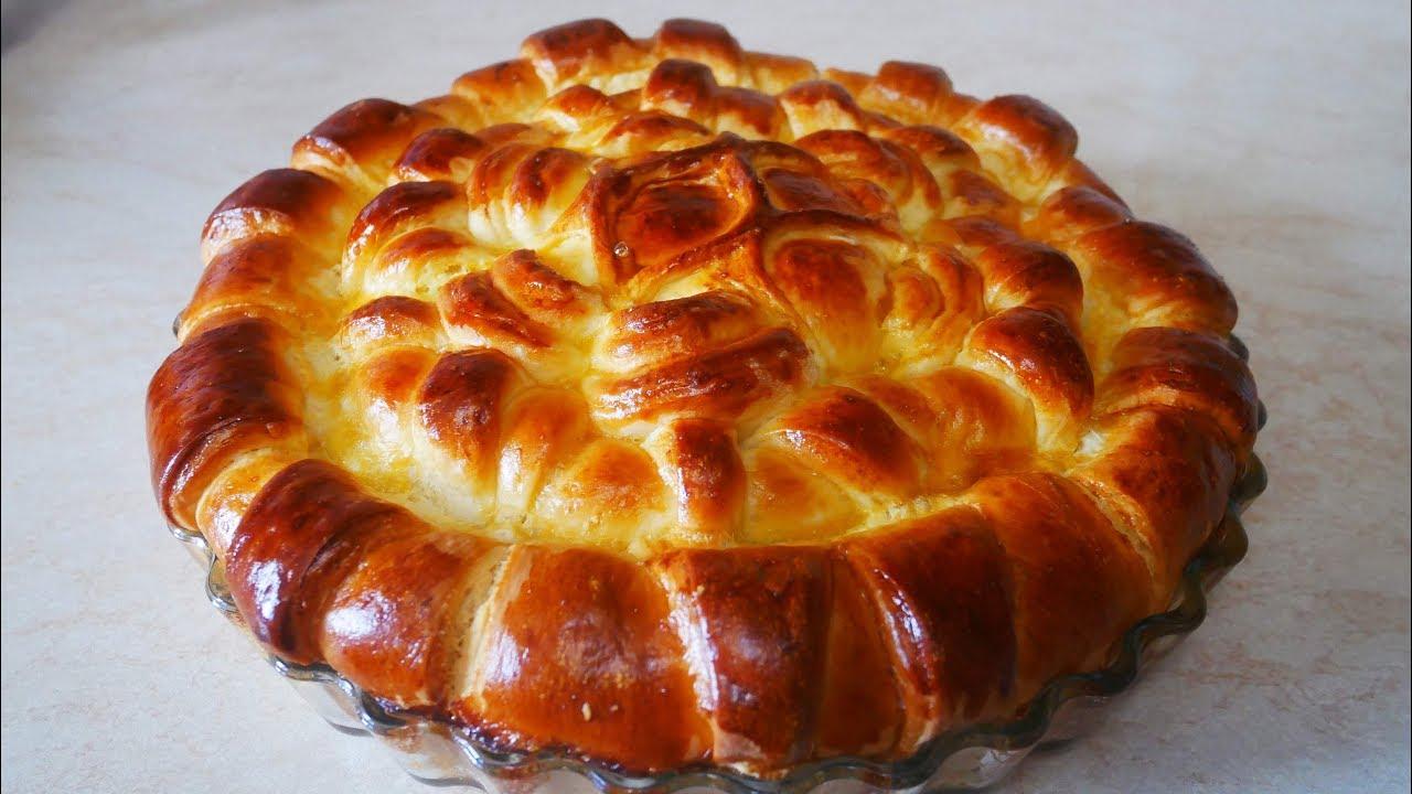 Праздничная выпечка ОРИГИНАЛЬНО и ВКУСНО пирог с творогом и изюмом Выпечка рецепты
