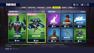 Fortnite New Liteshow and Nitelite Skins + Glow Rider Glieder and Glow Stick harvesting tool