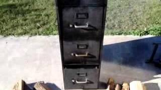 File Cabinet Smoker In Action
