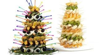Закусочные елки для новогоднего стола. Пошаговый рецепт. thumbnail