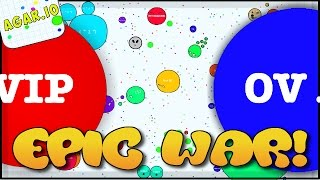 CRAZIEST CLAN WAR EVER! - AGARIO HIGH SCORE (Agar.io Gameplay)