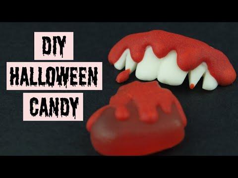Halloween Candy DIY Vampire Teeth and Bleeding Heart Mini Tutorial (by SweetSugarCraft)