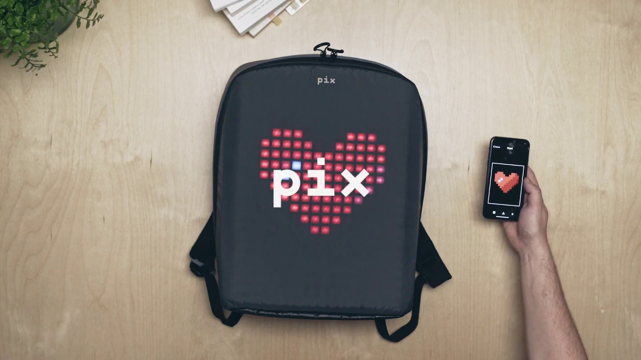 27d6220c217a Pix - backpack with programmable screen