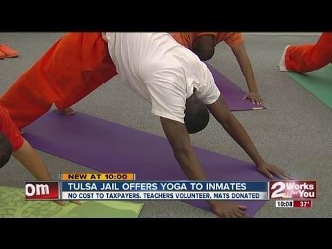 Tulsa Jail offers inmates yoga in prison