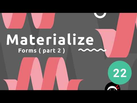 Materialize Tutorial #22 - Forms (part 2)