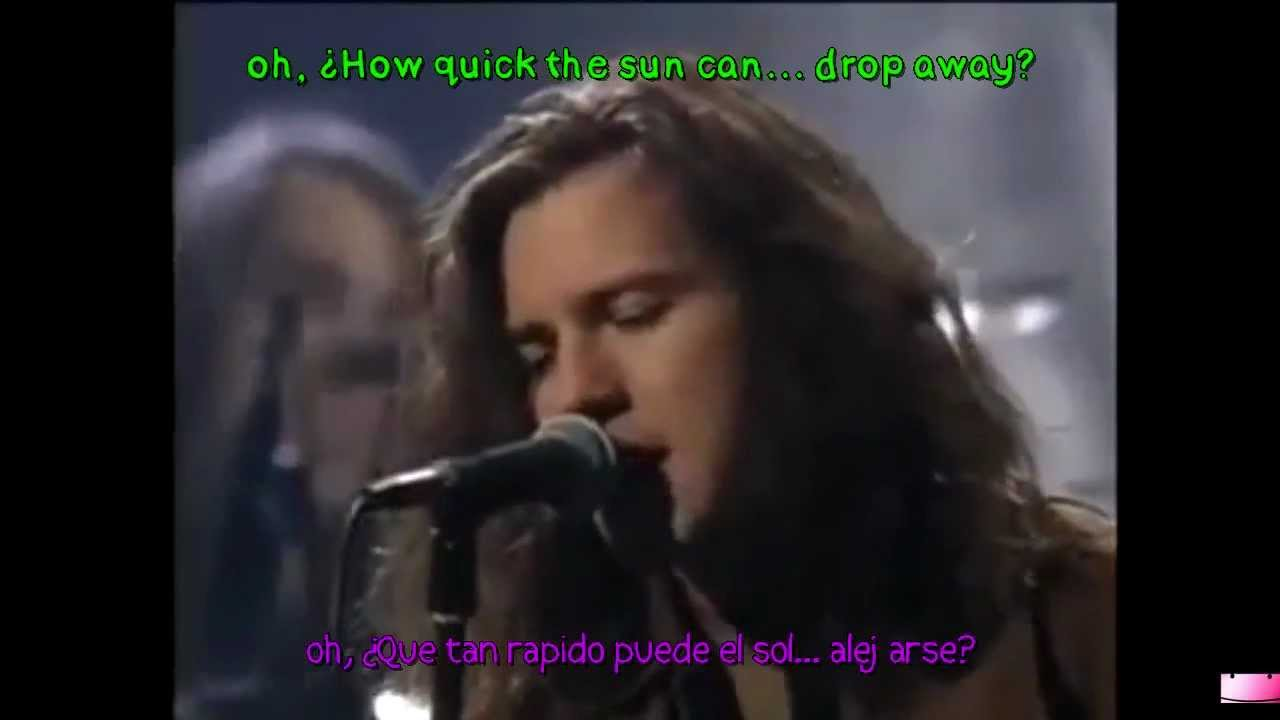 Black Pearl Jam Letra Espa 241 Ol Ingles Youtube