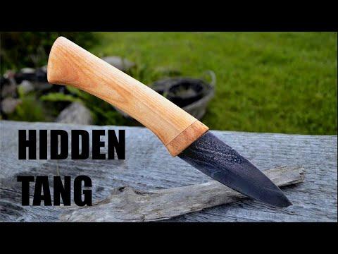 Knife making- Wooden hidden tang knife handle